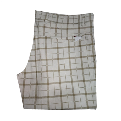 Mens Casual Checked Trouser