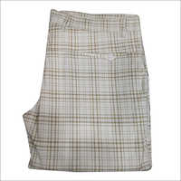 Mens Regular Fit Formal Checked Trouser