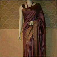 Ladies Linen Plain Saree