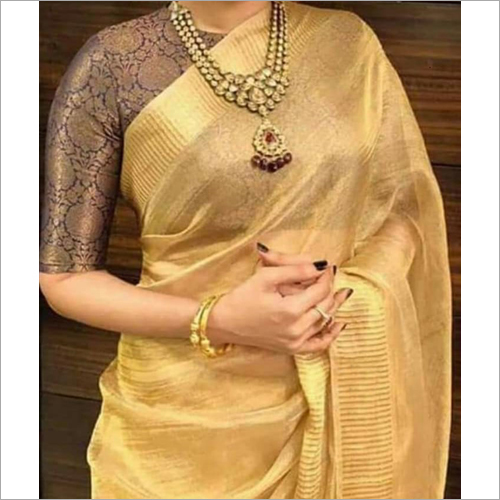Ladies Plain Party Wear Saree