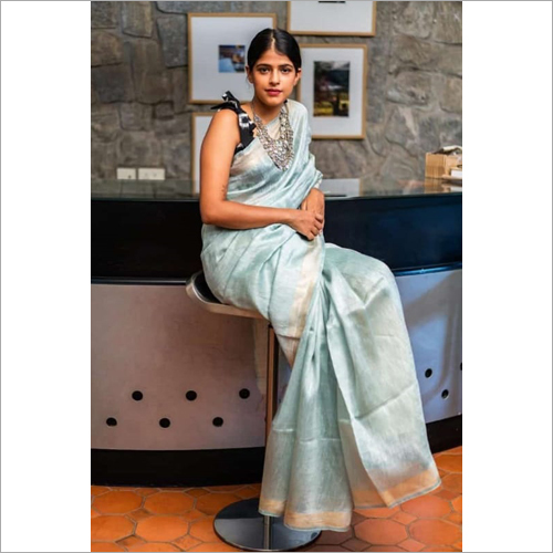 Ladies Casual Wear Plain Saree
