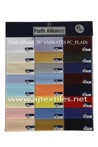 Plain Poly Cotton Shirting Fabrics