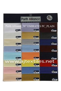 Plain Poly Cotton Shirting Fabrics