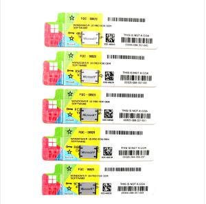 MS win10 pro COA key sticker