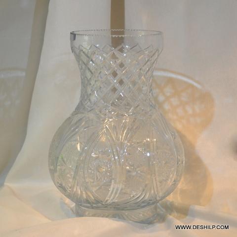 Crystal Cutting Glass Flower Vase