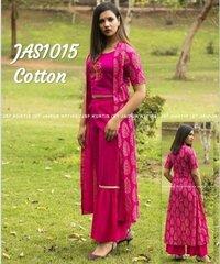 Designer Cotton Kurti With Sharara