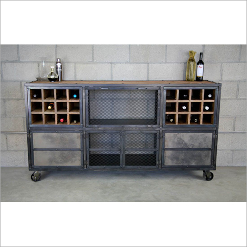 Reclaimed Industrial Bar Cabinet