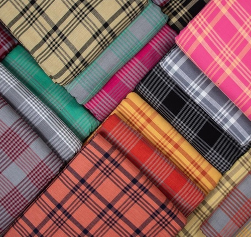 Fancy cross check Printed fabric