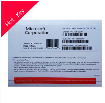 Microsoft Windows 8.1 pro OEM package