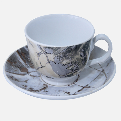 Printed Ceramic Coffee Cup Saucer