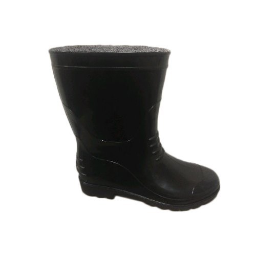 Mens Black Safety Gumboots