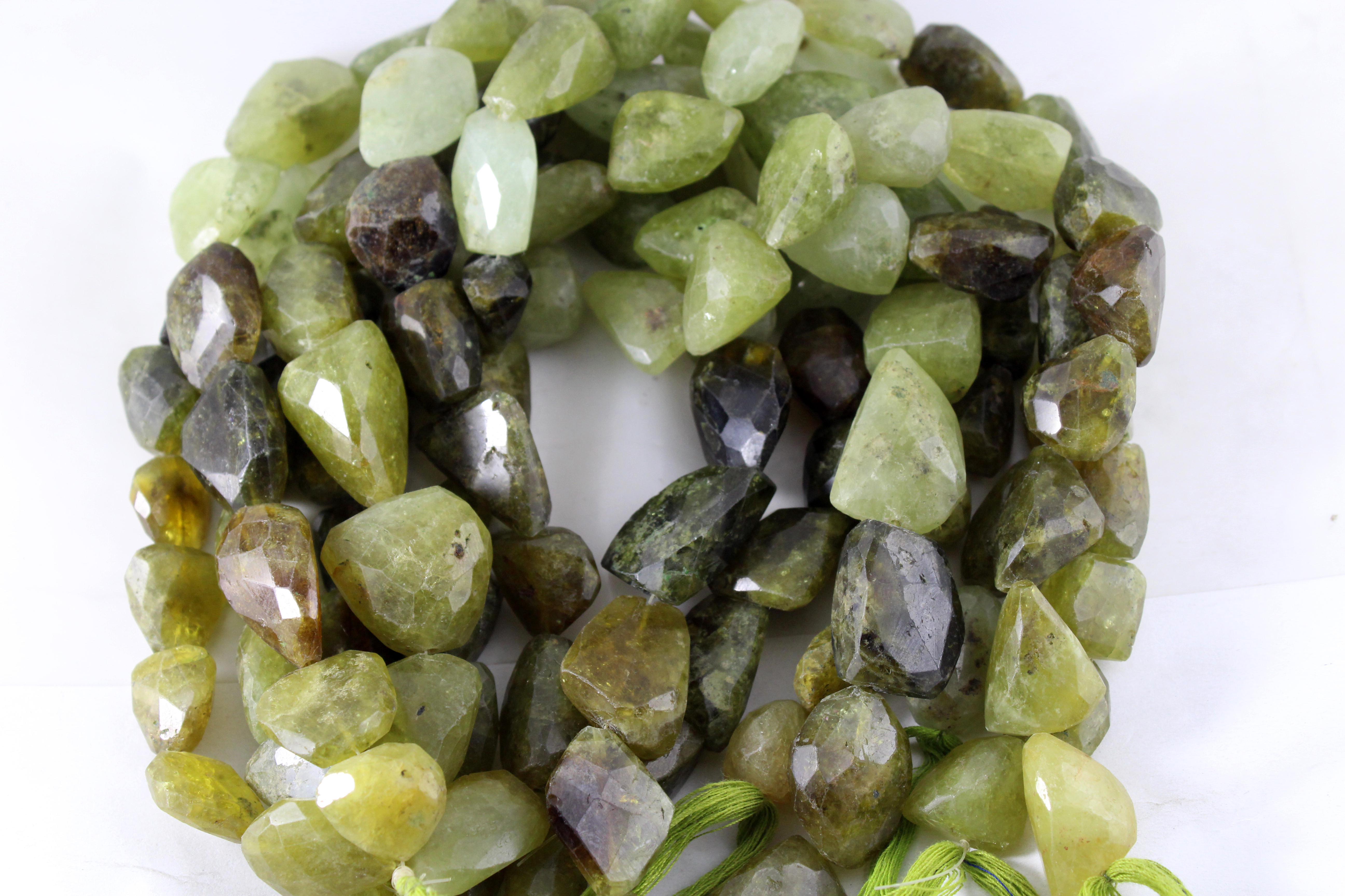 Grossular Garnet Nugget Beads