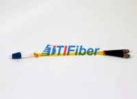 Yellow Lc Fc Patch Cord Simplex Fiber Optic Cable Single Mode For CATV networks