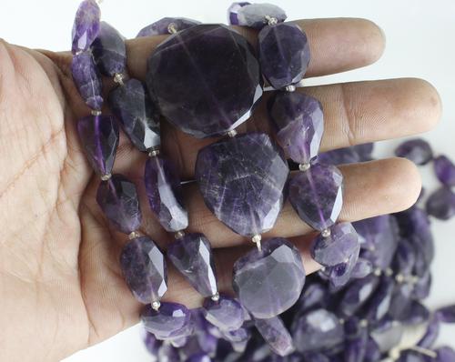 Amethyst Flat Nugget Beads