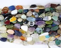 Mix Stone Flat Nugget Beads