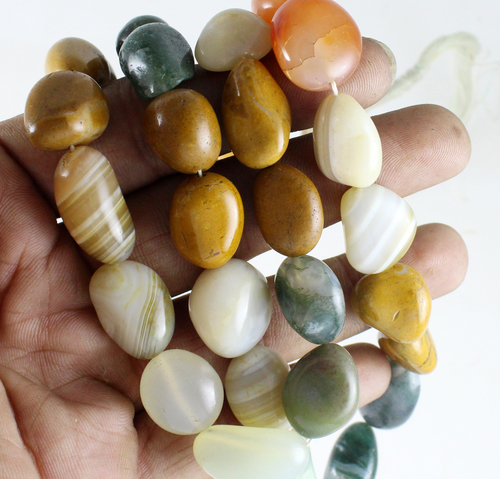 Multi Agate Nugget Beads