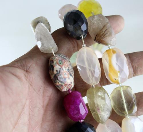 Mix Stone Nugget Beads
