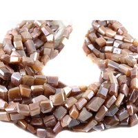 Moonstone Coated Nugget Beads