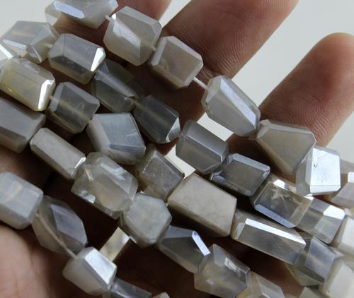Moonstone Coated Beads