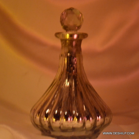 Silver Glass Antique Perfume Bottle