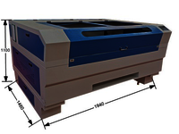1410 CO2 laser cutting machine plastic plywood cloth laser engraving machine