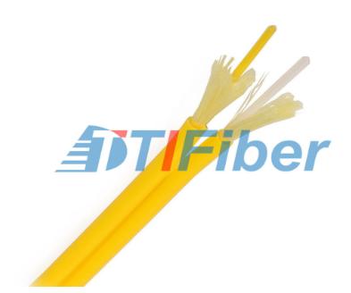 Simplex Fiber Optic Cable Outdoor Singlemode PVC Jacket For Data Communication