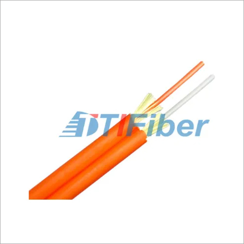Duplex Multimode Fiber Optic Cable Zipcord Structure With 2.0 / 3.0 Mm Tight Buffer