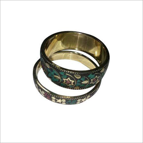 Tribal brass Stone Bangle