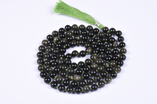 Golden Obsidian Beads