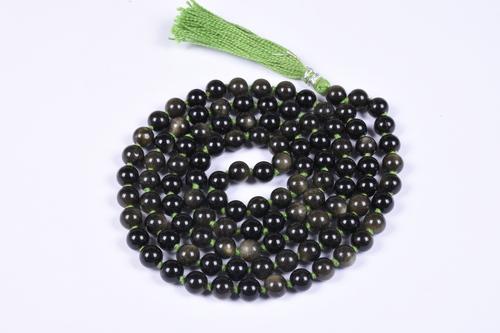 Golden Obsidian Prayer Beads