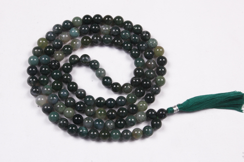 Moss Agate Prayer Beads