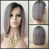 Fixed Parting Human Hair Wig
