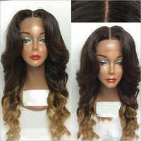 Centre Parting Human Hair Wig