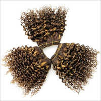 Curly Double Drawn Machine Weft Hair Extension
