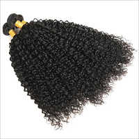 Jerry Curly Machine Wefted Hair Extensions