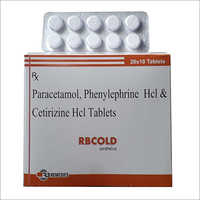Paracetamol  Phenylephrine HCL and Cetirizine HCL Tablets