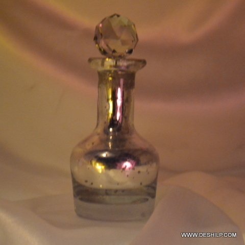 Silver Glass Decor Perfume Bottle