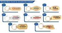 Round Neck Silver & Golden Key Chains