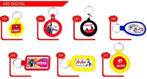Plastic Digital Key Chains