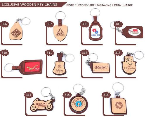 Exclusive Wooden Key Chains