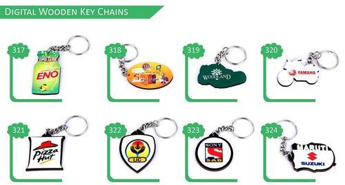 Digital Wooden Key Chains