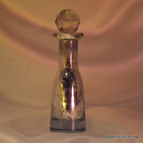 Silver Glass Perfume Bottle