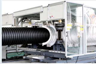 110 mm – 250 mm double wall corrugated pipe making machine with cast aluminum mold