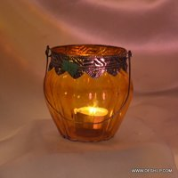 Colorful Glass T Light Candle Holder