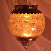 Antique T Light Hanging Votive