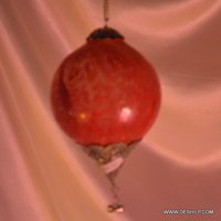Red Glass Ball Shape Hanging For Home Decor
