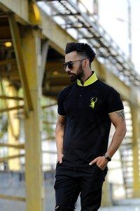 Mens Printed Collar Polo T-Shirt