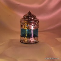 Metal Fitting Glass T Light Candle