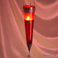 Thin Shape Glass T Light Hanging