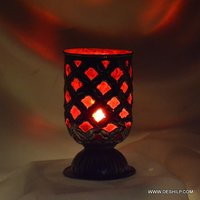 Metal Fit Glass T Light Candle